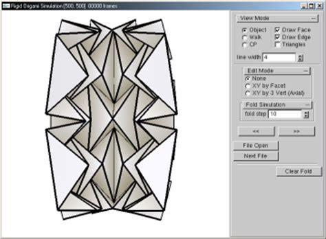 Rigid Origami Simulator - 折り紙研究ノート 2 三谷純