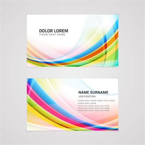 name card design template ai colorful abstract business card templates free vector in