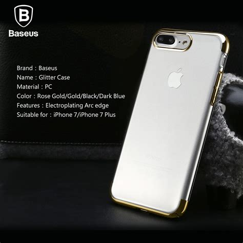 for iphone 7 7 plus slim glitter clear protective bumper cover ebay