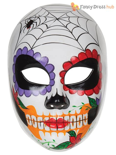 day of the dead sugar skull halloween mask ladies day of the dead mexican sugar skull mask halloween