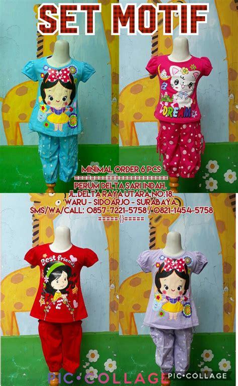 Pakaian Anak Motif Karakter kulakan setelan motif anak perempuan karakter murah 26ribu