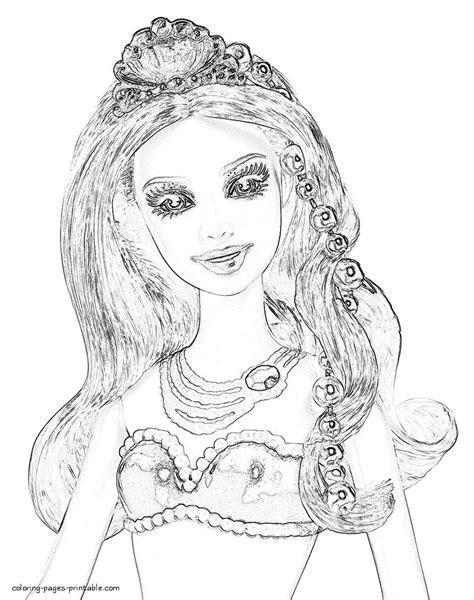 pearl princess barbie coloring pages murderthestout