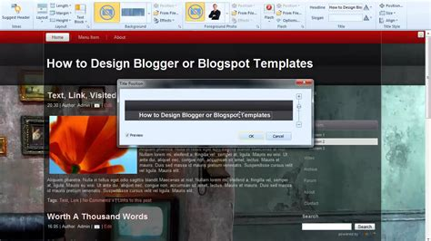 blog layout type artisteer how to design blogger templates or blogspot templates with