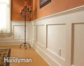 How To Make Wainscoting Panels How To Build A Wainscoted Wall The Family Handyman