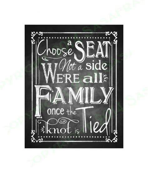 choose a seat not a side wedding sign printable wedding seating sign choose a seat not a side