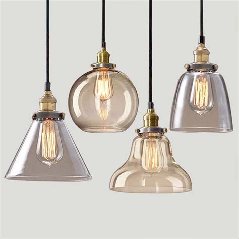 Retractable Pendant Light Light Bulb Pendant Light Copper Glass Restaurant Pendant Light Single Pendant Light Vintage