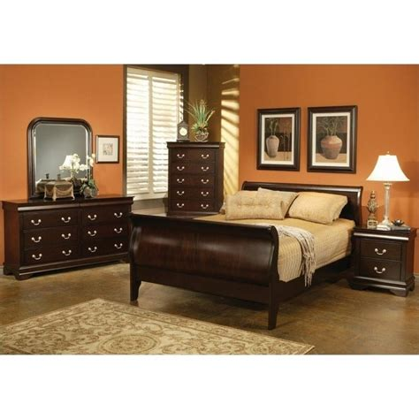 louis philippe bedroom set coaster louis philippe queen 5 piece bedroom set in