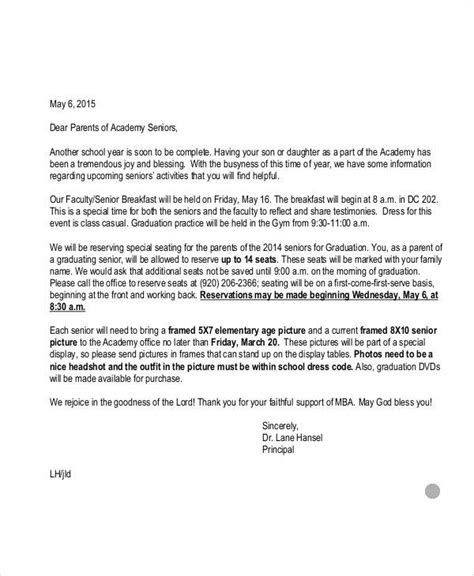 thank you letter to parents 9 sle graduation thank you letter free sle