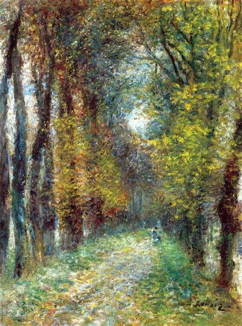 best painting artwork by pierre auguste renoir the covered lane 1872