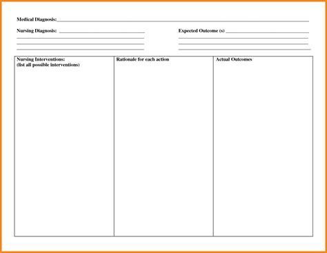 care plan template best resumes