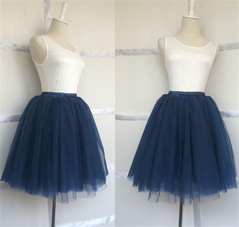 aliexpress buy sale navy blue tulle skirt 7