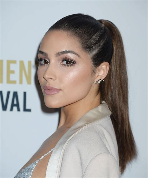 Olivia Culpo rocked a braided ponytail hair style   and slayed