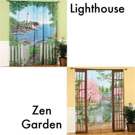 Window Art Curtains   Scenic Window Curtains   Curtains