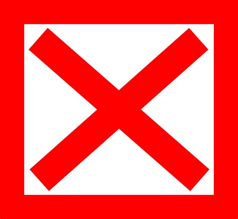 X Free by Free Vector Graphic Cross X Square Delete Free