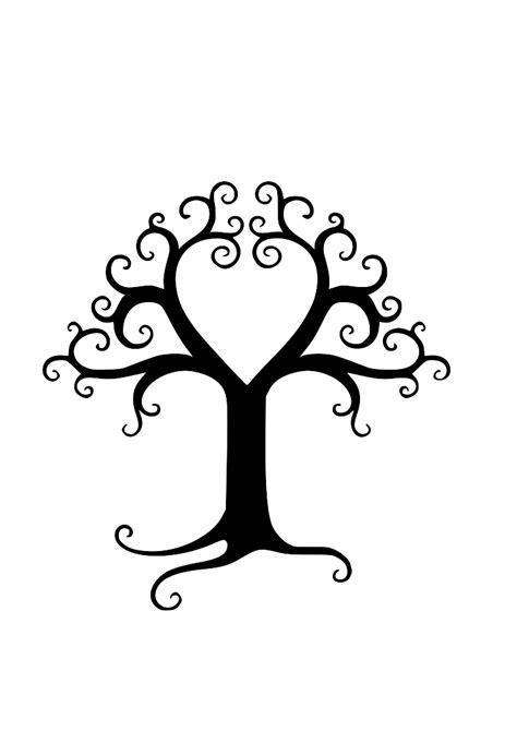 Printable Family Tree Silhouette | swirly tree swirly tree silhouette male models picture