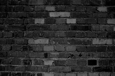 black brick wall black brick stone wall art by maxee