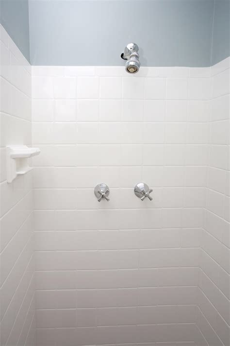 white shower new ideas white tile gray grout ceramic wood image of