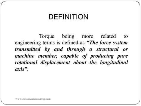 what is stall means torque certified fixed orthodontic courses by indian