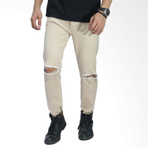 Celana Strech Ripped Split jual frozenshop ripped on knee celana pria khaki harga kualitas terjamin