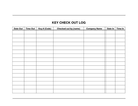 key log template best photos of check out inventory sheet equipment check