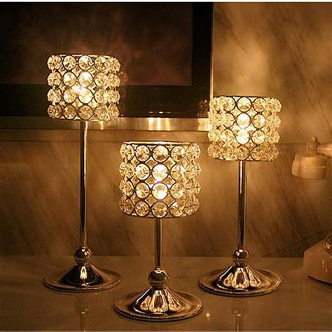 wedding decoration home decor candle holders crystal