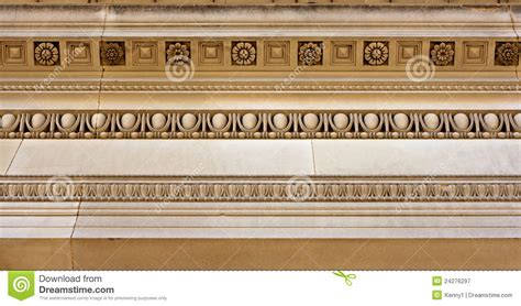 Cornice Work Intricate Sandstone Cornice Work Royalty Free Stock