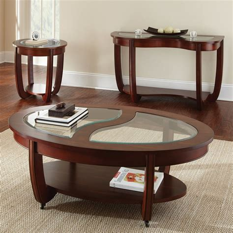 shop steve silver company cherry oval coffee table
