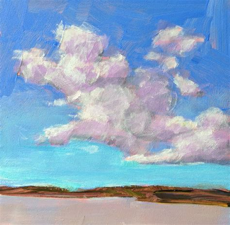 acrylic paint clouds kelley macdonald s daily paintings cloud study 1 4x4