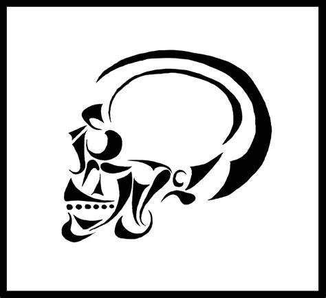 simple tattoo clip art simple skull drawings clipart best