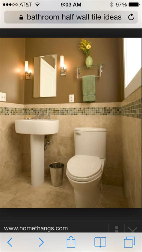 bathroom half wall tile ideas next house