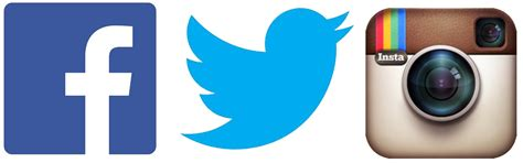 facebook instagram logos transparent facebook twitter instagram clipart icon