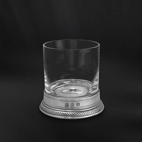 bicchieri per whisky bicchiere whisky fashioned in cristallo e peltro
