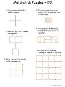 rebus puzzles worksheet for middle matchstick