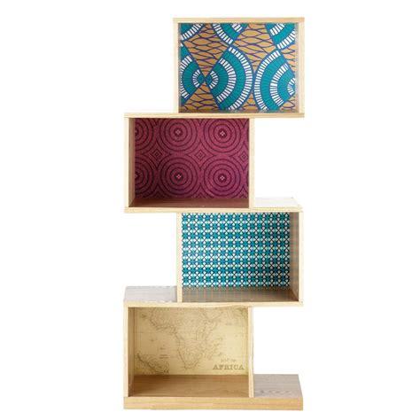 etagere 55 cm 201 tag 232 re en bois multicolore l 55 cm bamako maisons du monde