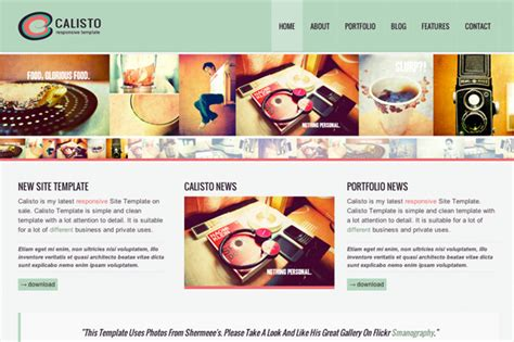 Draggable Card Website Template by Calisto Responsive Template Card Website Templates On