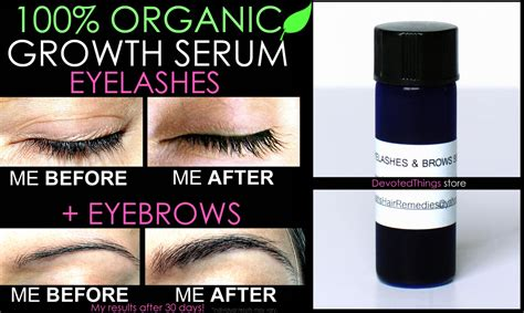 BEST ORGANIC EYELASH GROWTH SERUM AND EYEBROW GROWTH SERUM
