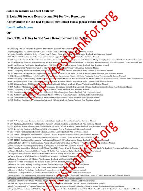 test banken 194346394 solution manual and test bank microsoft