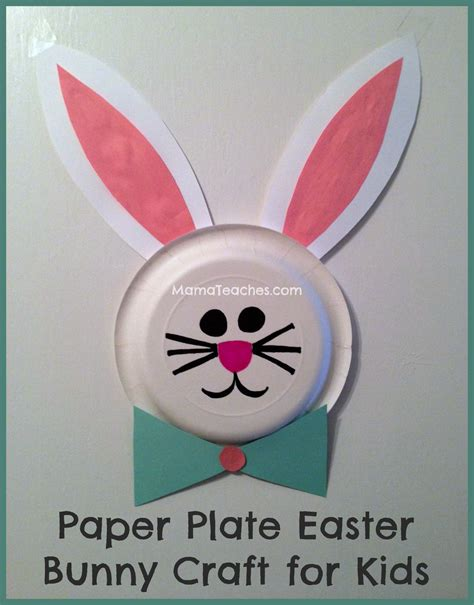 Paper Plate Craft Work - paper plate easter bunny craft for teaches