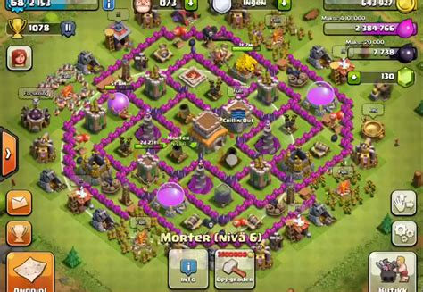 layout coc copy top 10 clash of clans town hall level 8 defense base design