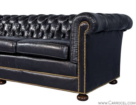 distressed leather chesterfield sofa distressed leather chesterfield sofa one pair of
