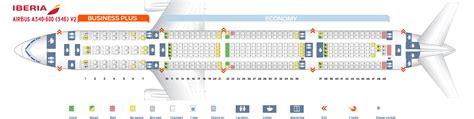 iberia airbus a340 500 seat map seatguru etihad