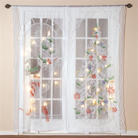 christmas curtain panels lighted christmas curtain panel led curtain walter drake