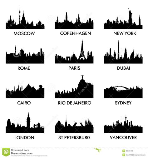 City silhouette vector stock vector. Illustration of