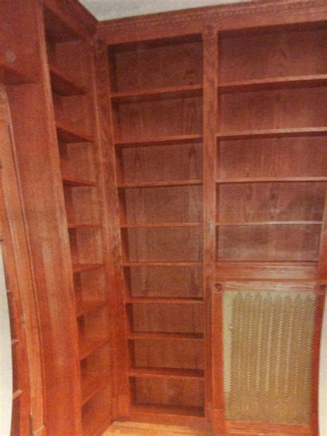 57th Bookcase 57th bookcases built in with fluted trim and bullseyes farnham built