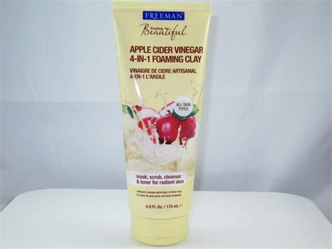 Freeman Cleansing Apple Cider Vinegar Clay Mask Scrub Import Usa freeman apple cider vinegar 4 in 1 foaming clay review musings of a muse