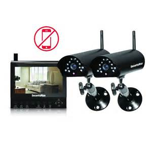 home security systems home depot securityman 4 channel 2 wireless security system with 7