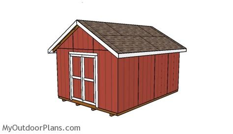 12x16 shed plans myoutdoorplans free woodworking plans