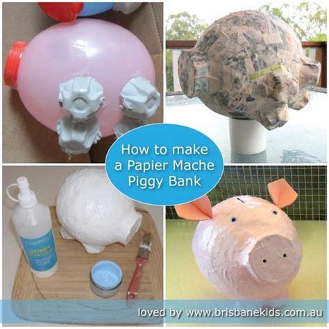 Best Way To Make Paper Mache - papier mache piggy bank spaarpot brisbane en upcycling