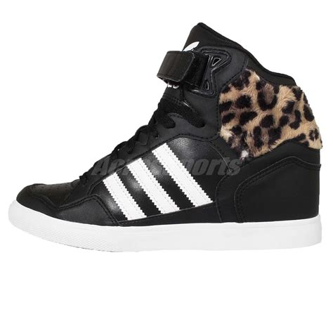 adidas originals extaball up w black leopard womens wedges shoes sneakers af4387 ebay