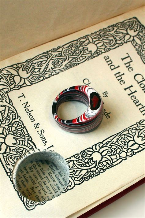 with this ring books a matter of style diy fashion paper jewelry